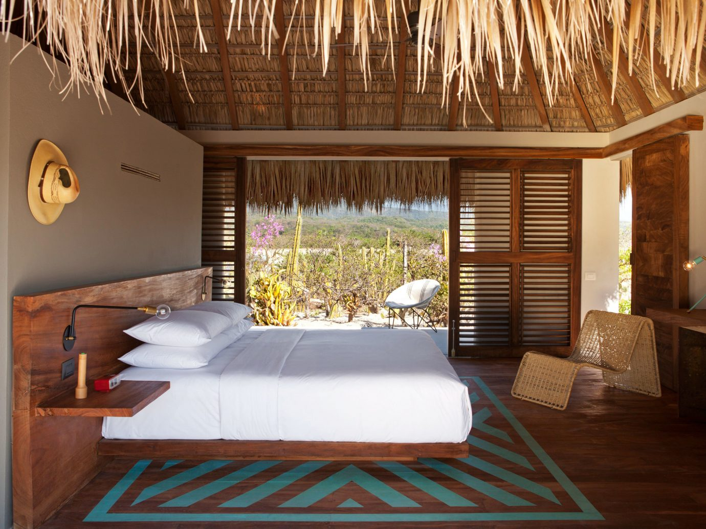 Bedroom at Hotel Escondido, Puerto Escondido, Mexico