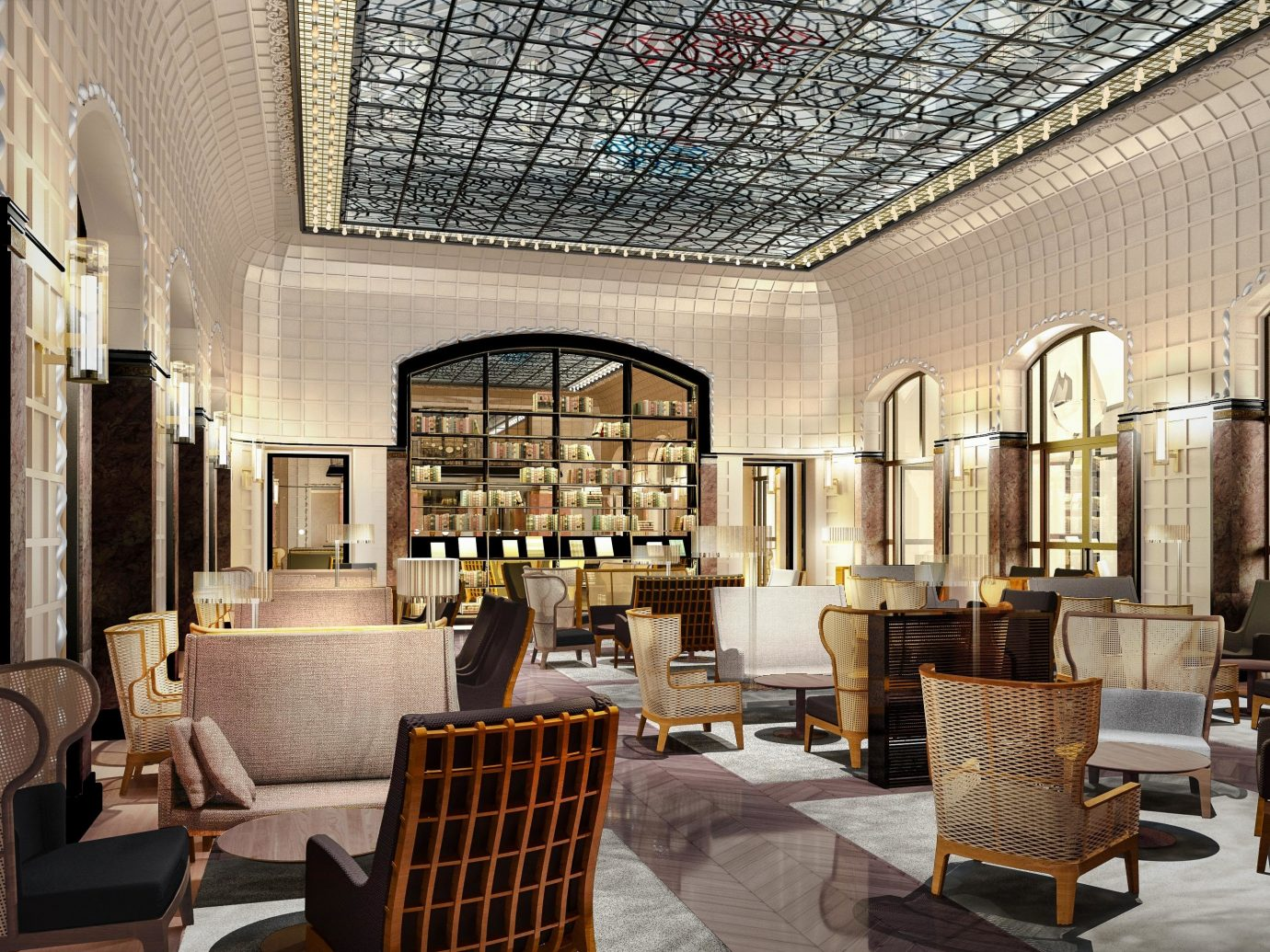europe Trip Ideas indoor chair interior design Lobby room ceiling furniture living room area