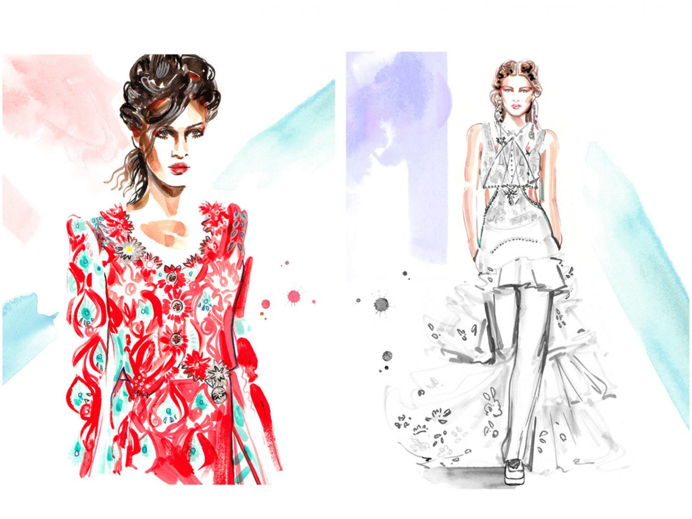 Style + Design clothing costume design sketch drawing art fashion pattern spring fashion illustration Design illustration fashion design