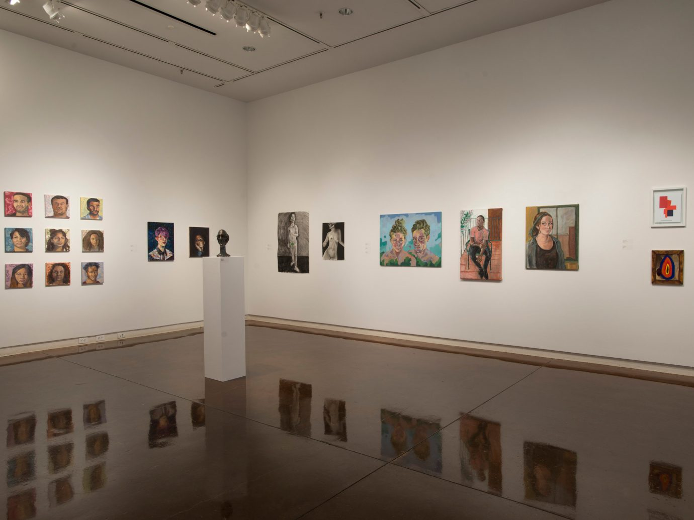Gallery walls at The Halsey Institute of Contemporary Art
