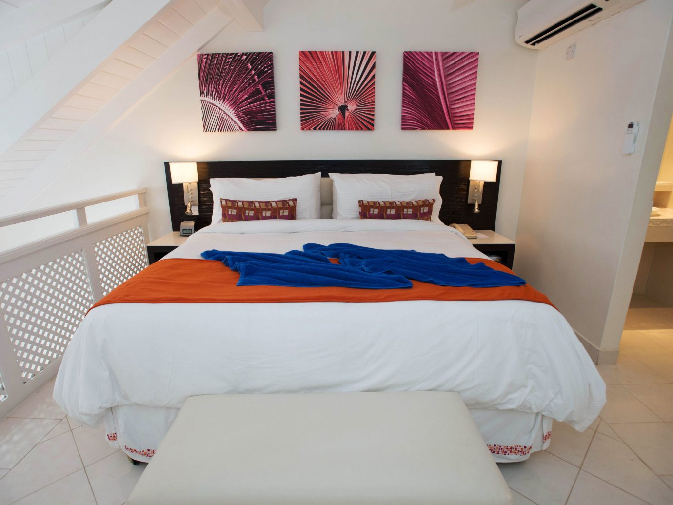 All-Inclusive Resorts Hotels wall indoor bed floor room property Bedroom white furniture cottage bed sheet Suite interior design apartment