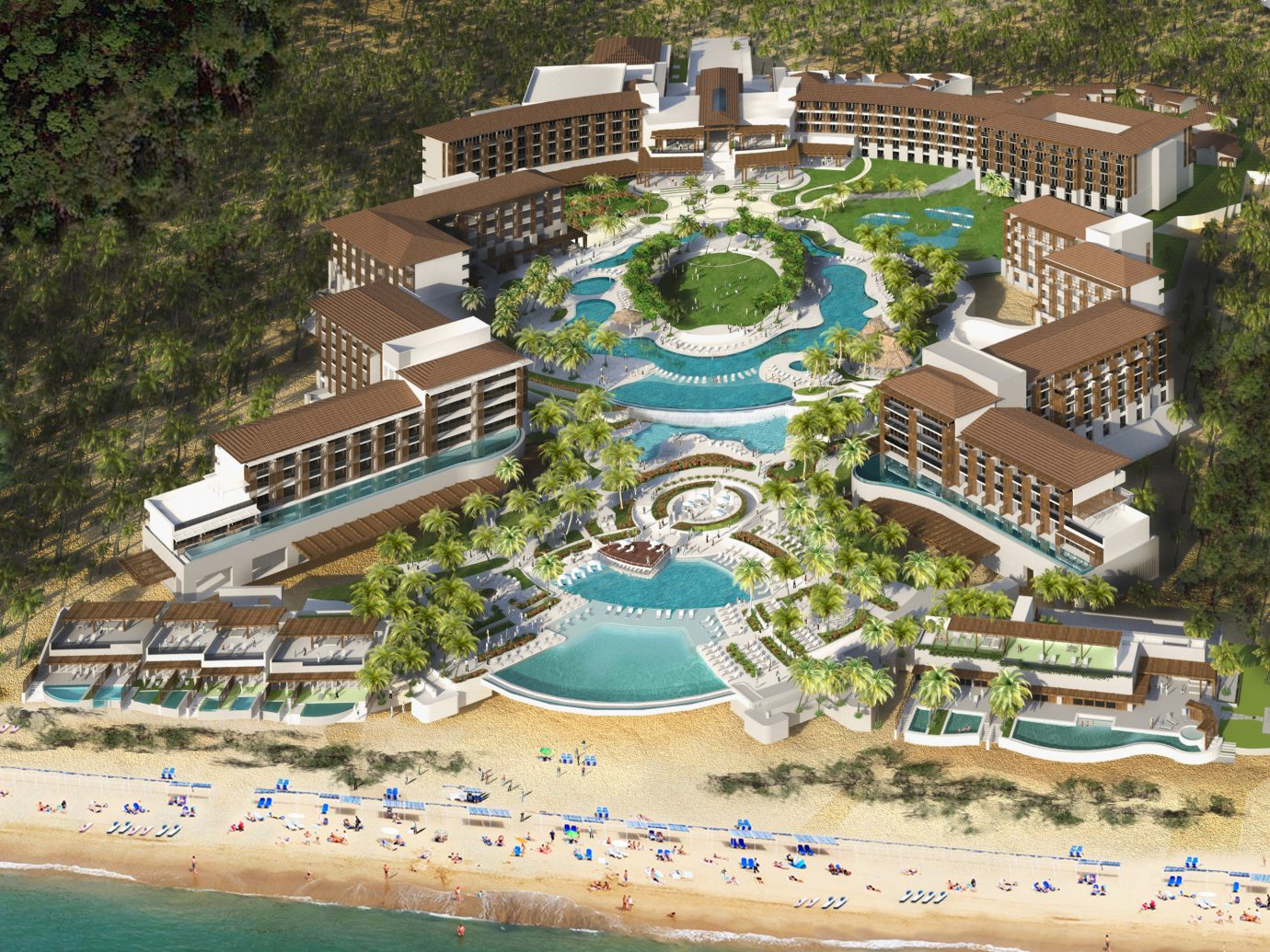 All-Inclusive Resorts Family Travel Hotels tree Resort bird's eye view resort town leisure tourism estate recreation decorated