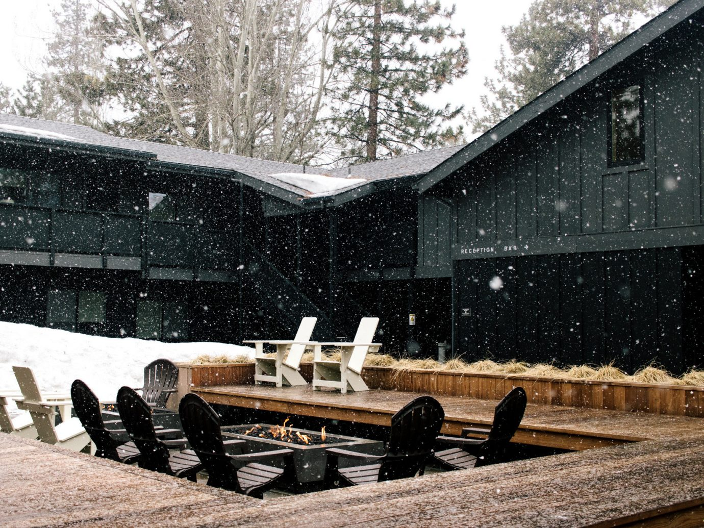 Hotels Style + Design Trip Ideas tree outdoor snow Winter Architecture freezing wood house landscape
