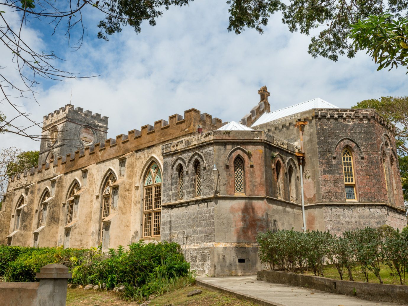 Trip Ideas tree outdoor sky building landmark Architecture estate stone tourism ancient history monastery palace old place of worship château Church history synagogue
