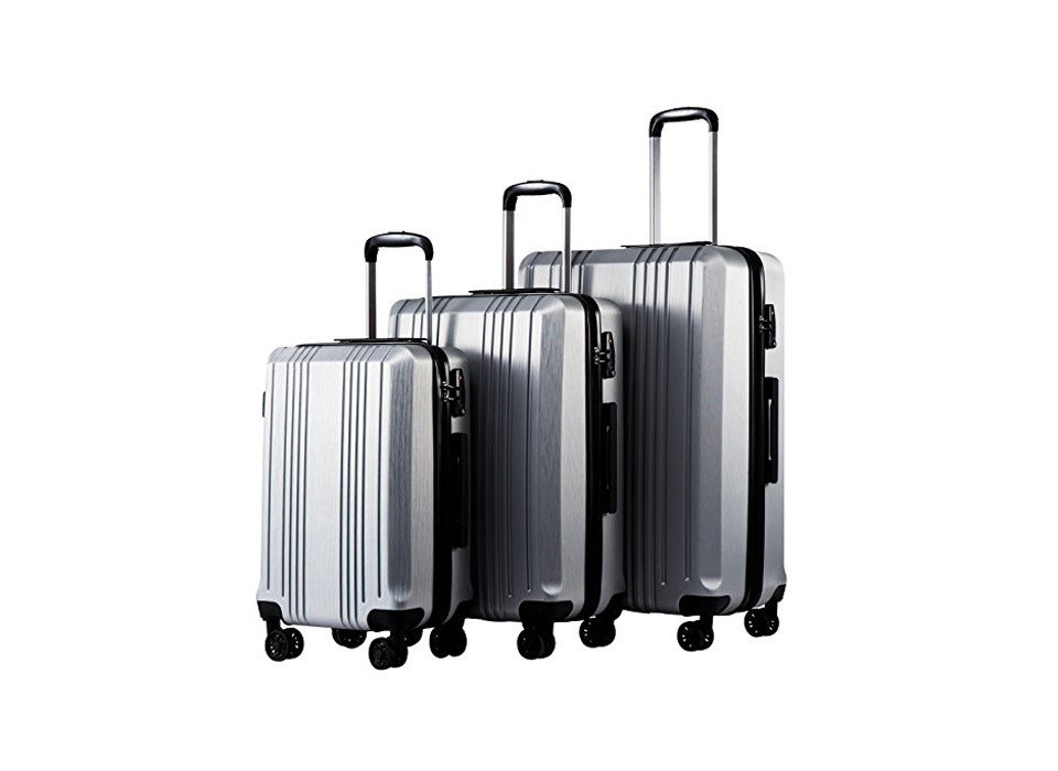 Coolife Expandable Luggage Set, Packing Tips Style + Design Travel Shop product suitcase product design metal luggage & bags