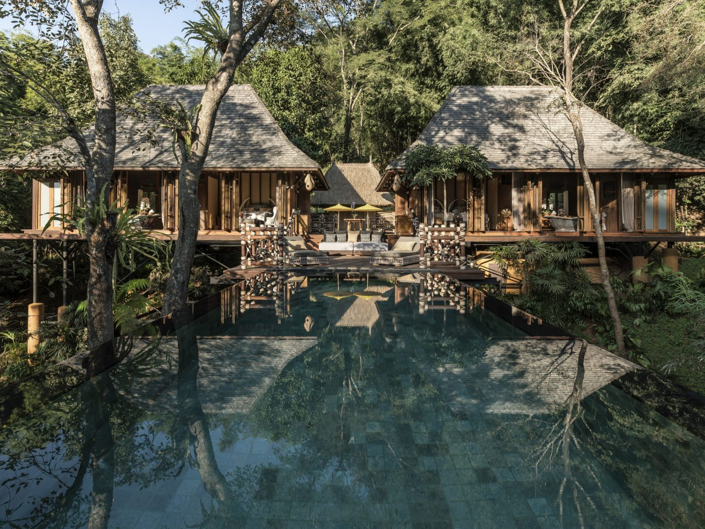 Pool at Four Seasons Tented Camp Golden Triangle, Thailand