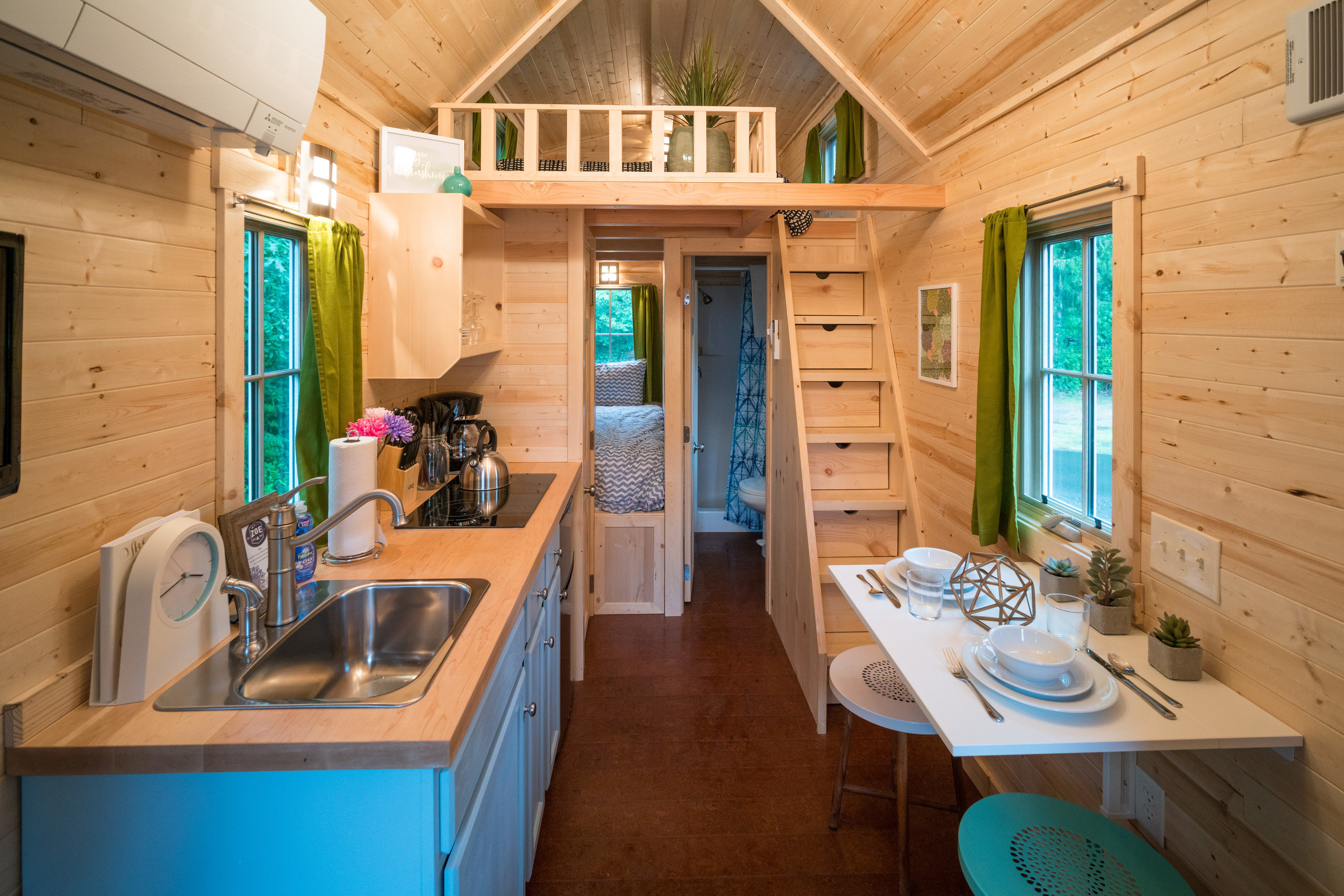 Glamping Outdoors + Adventure Trip Ideas floor indoor room property house home estate cottage Kitchen interior design real estate log cabin Villa apartment farmhouse