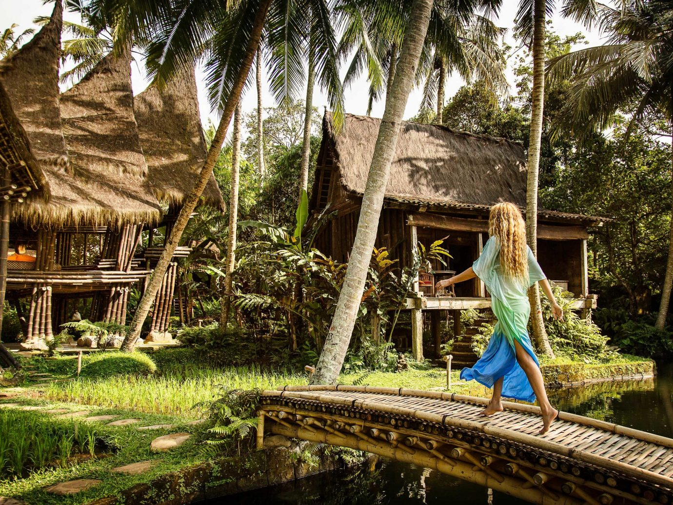 Boutique Hotels Hotels Nature water tree plant arecales leisure Jungle palm tree rainforest reflection tourism Resort landscape Forest recreation outdoor structure bayou