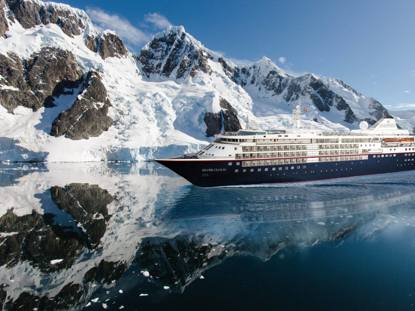 Cruise Travel Luxury Travel Trip Ideas outdoor sky cruise ship snow passenger ship mountain water transportation ship watercraft ocean liner glacial landform motor ship water mountain range Nature yacht naval architecture glacier fjord ice