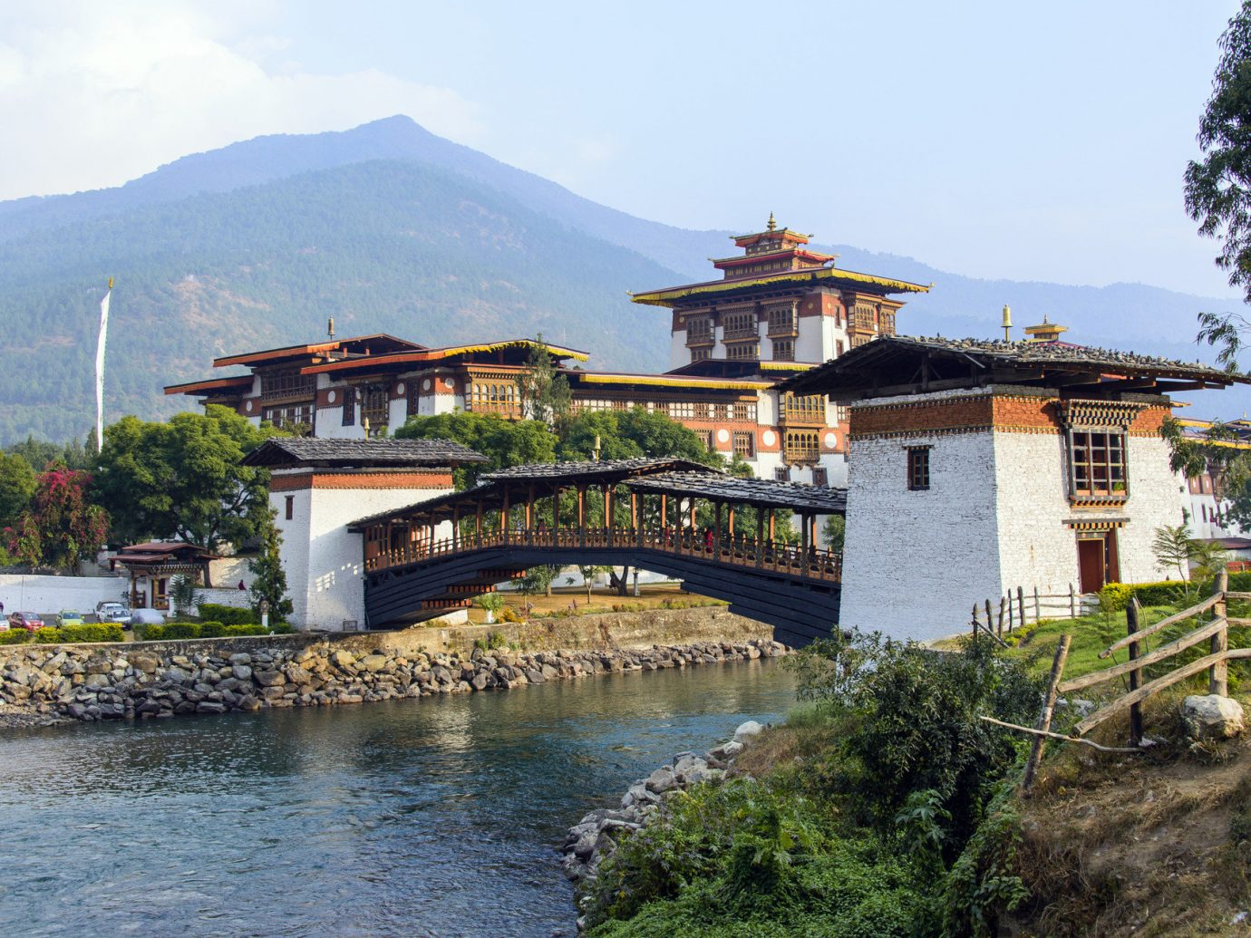 Travel Tips outdoor sky mountain house Town River vacation tourism estate Lake Village monastery old traveling Resort