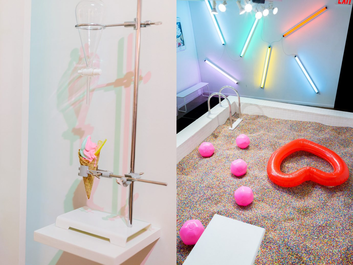 Arts + Culture color indoor pink Play art Party lighting Design