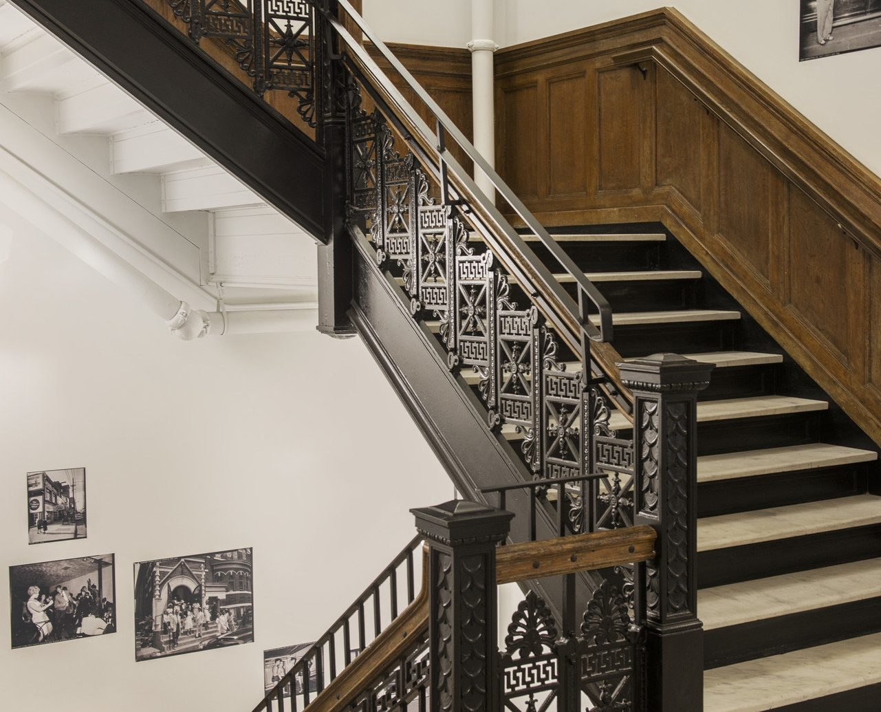 Boutique Hotels interior staircase stairs handrail Architecture iron baluster art interior design wood step