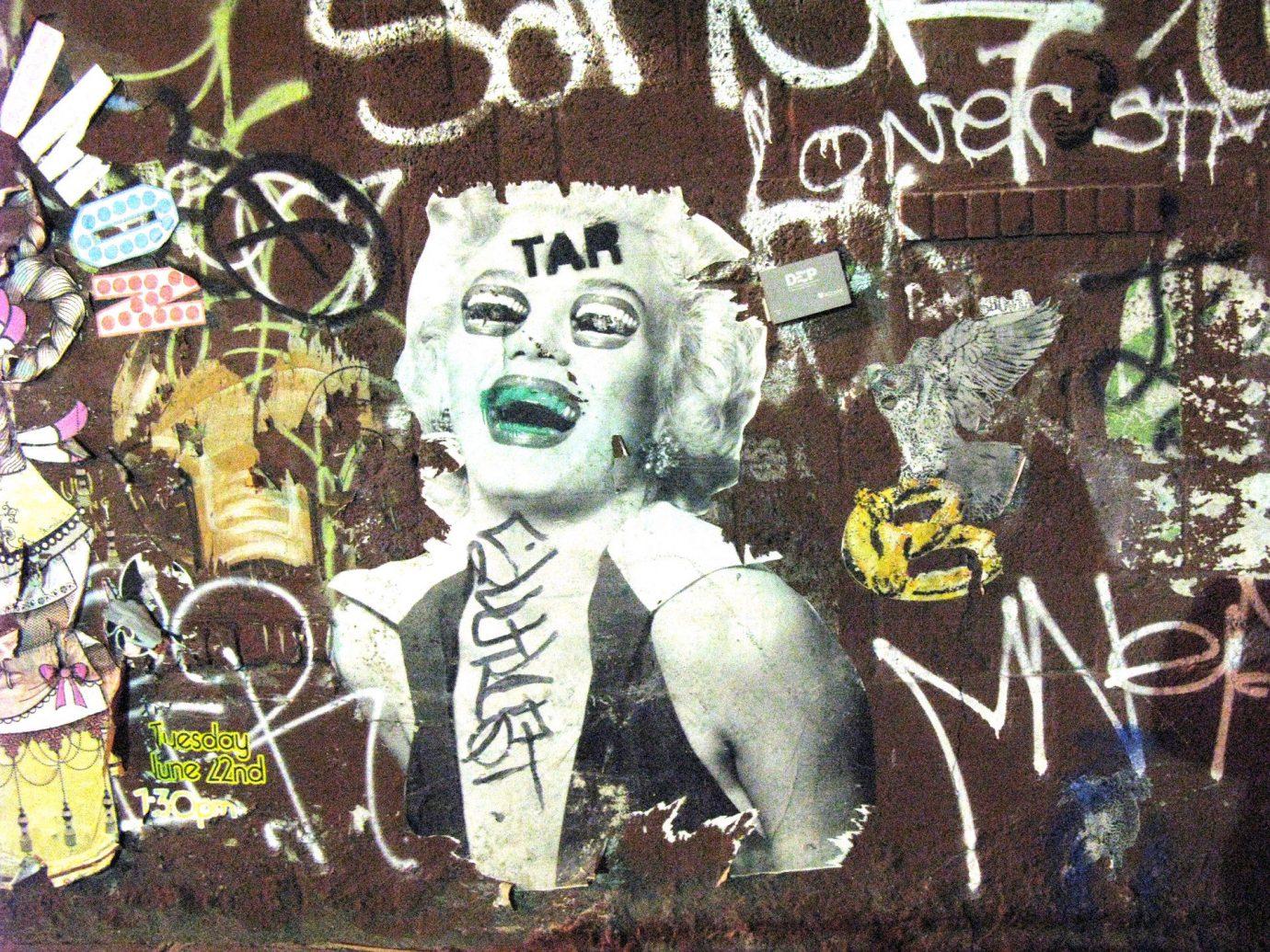art Arts + Culture brick wall City city streets graffiti street art streets urban text