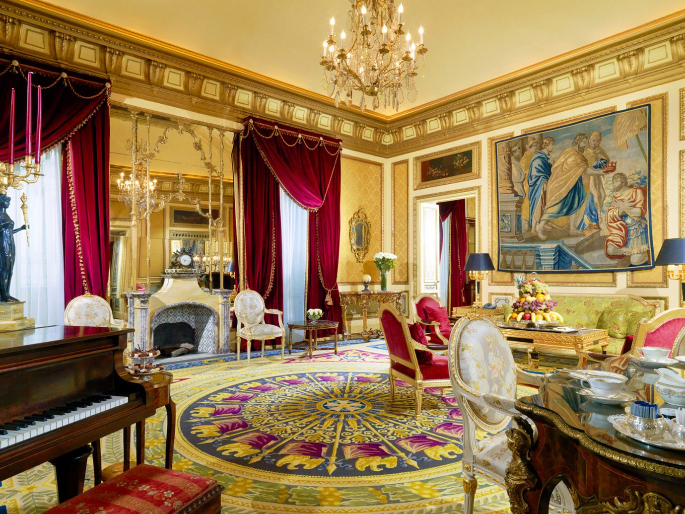 Boutique Hotels Italy Luxury Travel Romantic Hotels Rome indoor room palace Living estate Lobby interior design mansion living room ballroom furniture