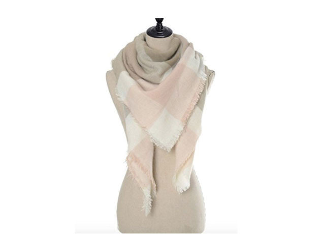 Style + Design Travel Shop Travel Tech Travel Tips stole product beige neck scarf shawl