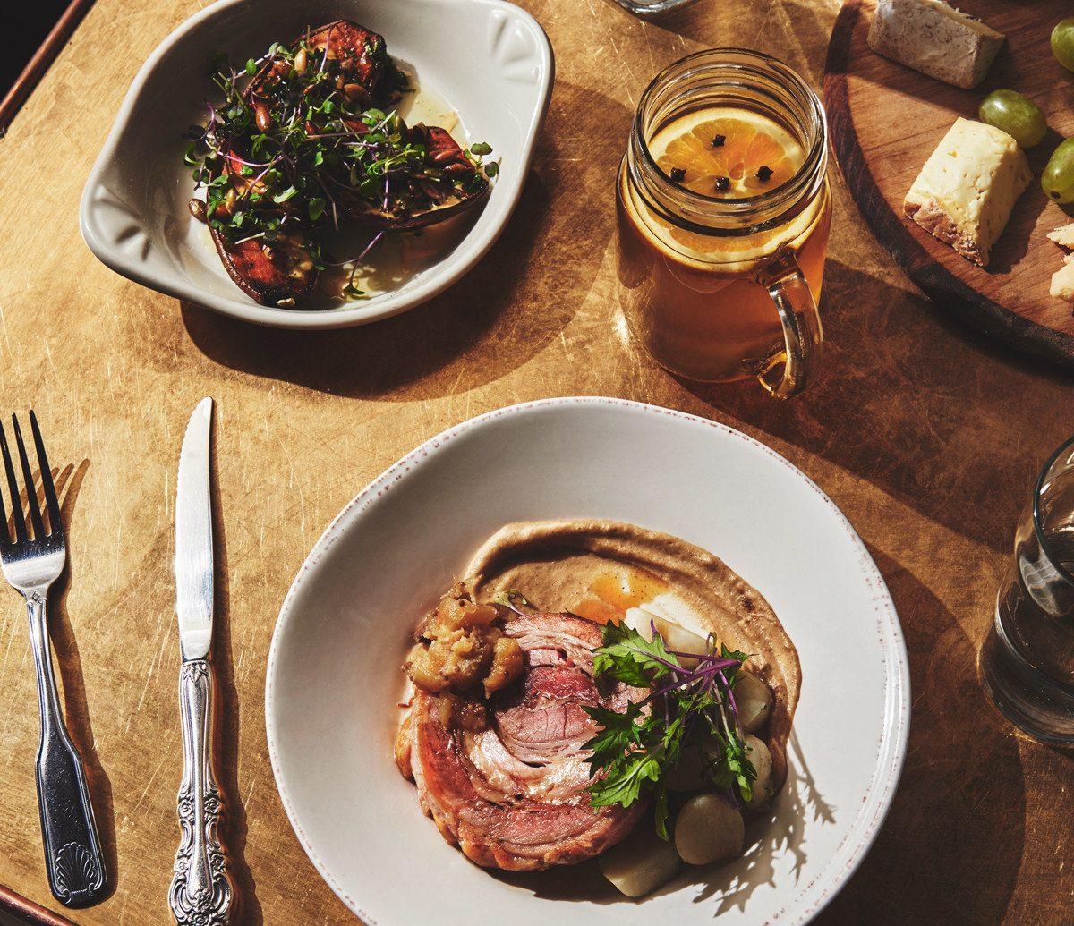 Trip Ideas plate food table dish meal dinner meat restaurant cuisine lunch breakfast supper produce brunch piece de resistance