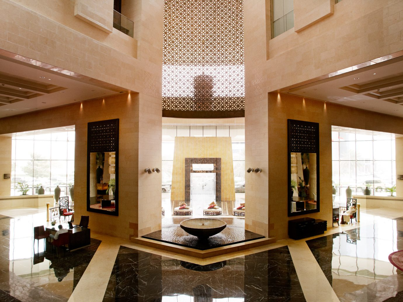 City Dubai Hotels Living Lounge Luxury Luxury Travel Middle East Scenic views indoor floor property room estate Lobby ceiling living room house home Architecture interior design mansion Design tourist attraction area furniture