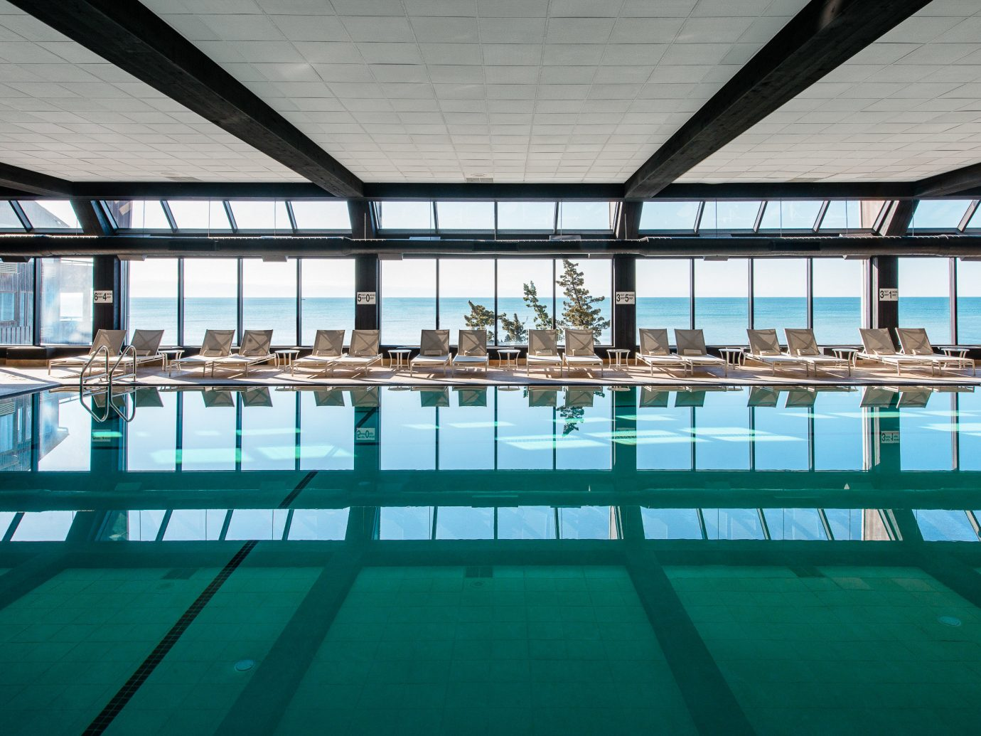 Beach South Fork The Hamptons building indoor green water ceiling swimming pool leisure reflection leisure centre Architecture platform daylighting area resort town condominium Resort amenity court walkway roof