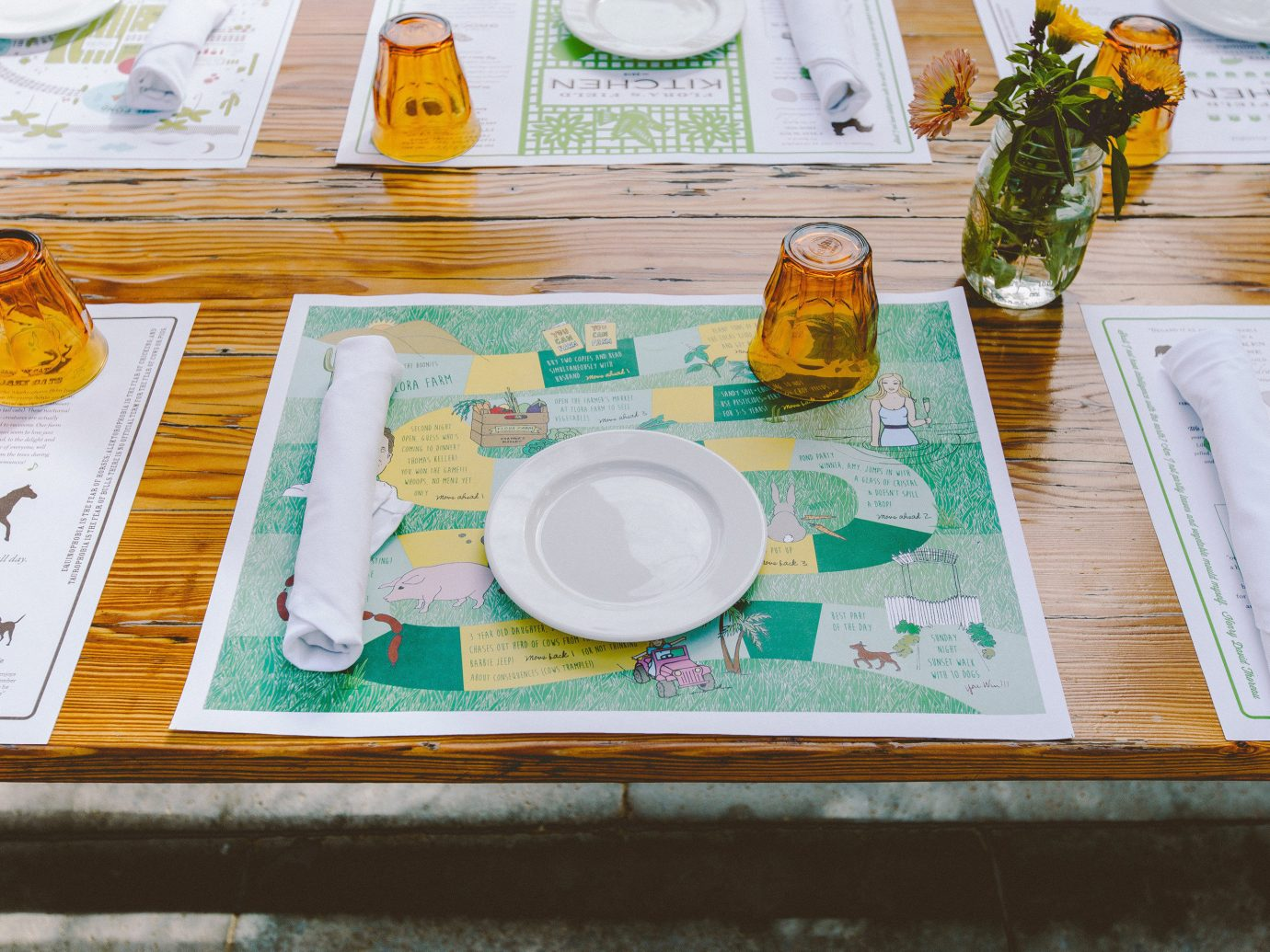 Travel Tips table color indoor art painting drawing meal