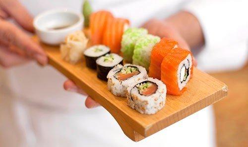 Style + Design food dish indoor cuisine sushi asian food meal gimbap japanese cuisine california roll sliced