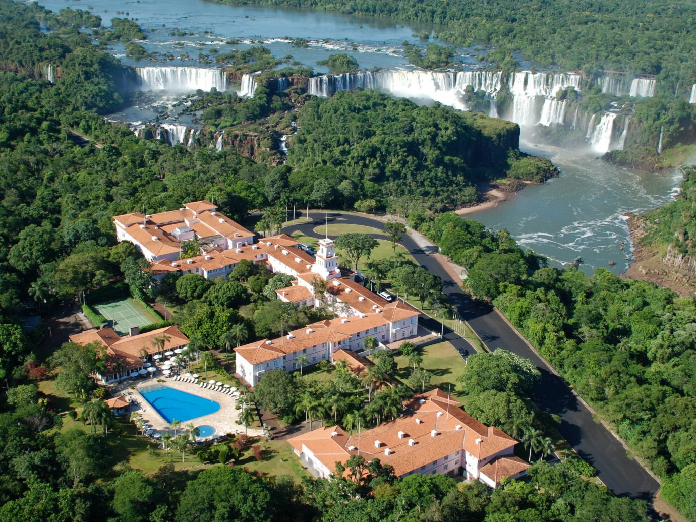 Aerial View Of Belmond Hotel Das Cataratas In Brazil