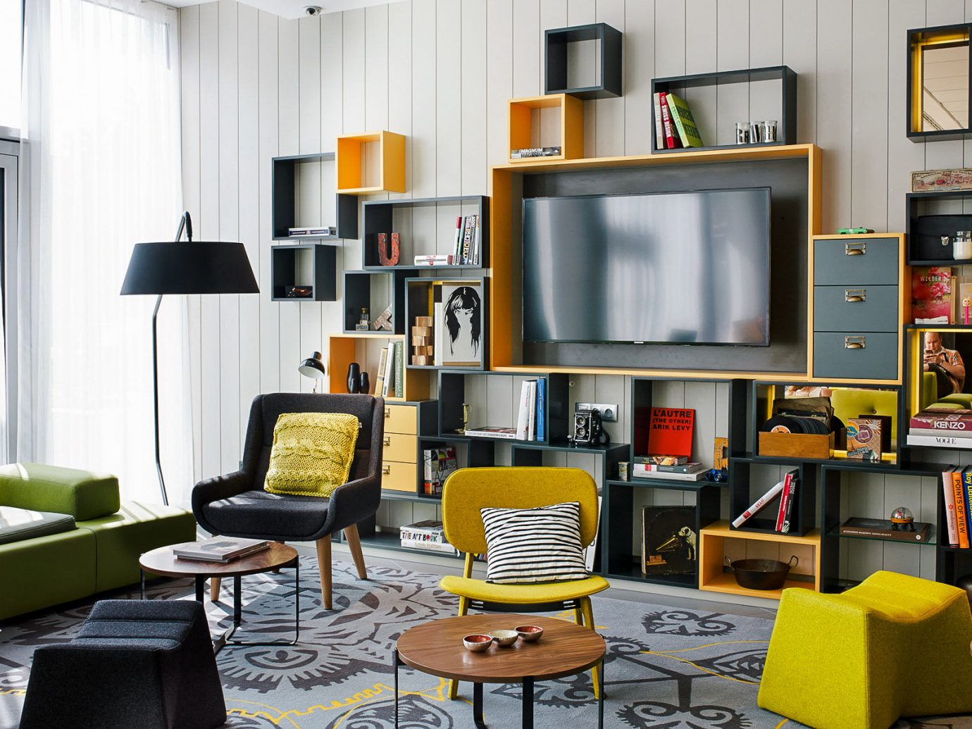 Trip Ideas indoor wall living room furniture room interior design table shelving home chair bookcase office interior designer