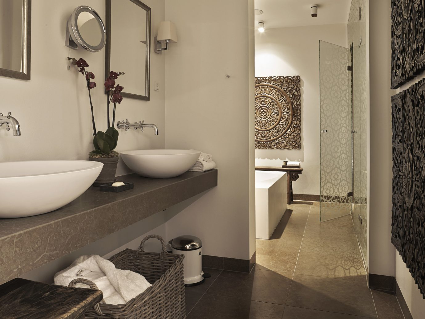 Boutique Hotels Copenhagen Denmark Hotels wall bathroom indoor floor room mirror sink interior design tile plumbing fixture white towel tap flooring home ceramic public toilet bidet tiled
