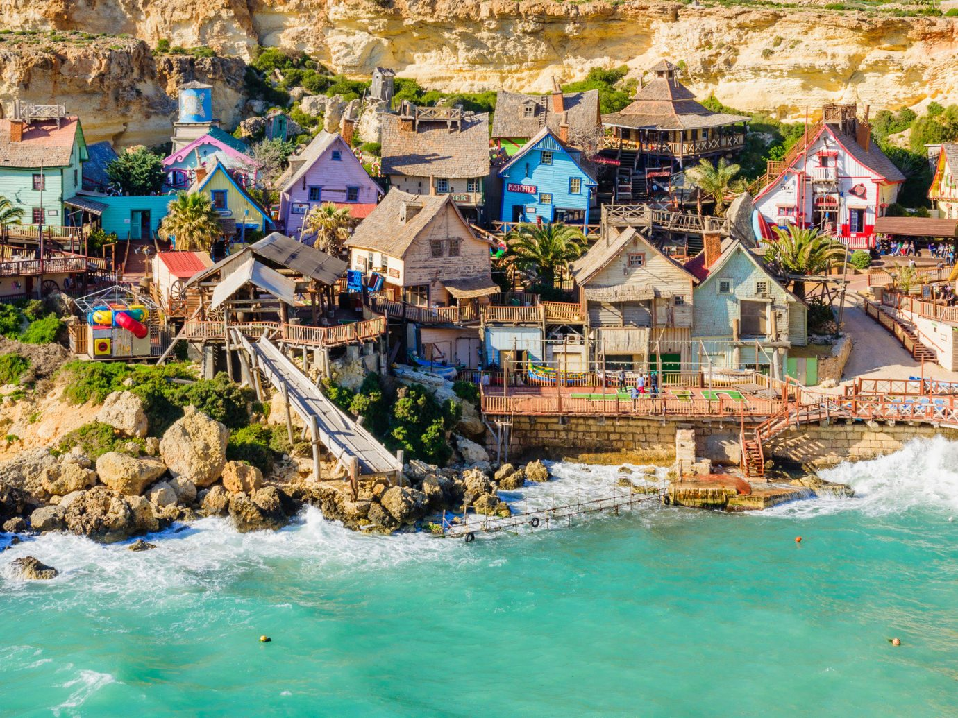 Travel Tips Trip Ideas water outdoor Town vacation Sea Village tourism Resort River Water park amusement park Beach swimming pool