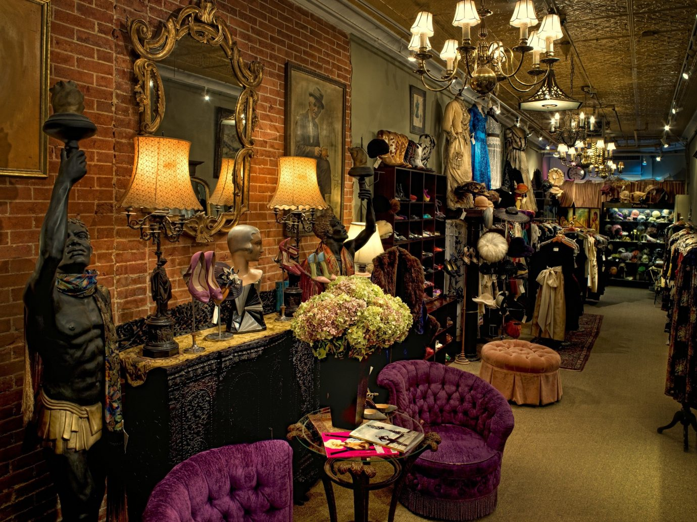 NYC Shops Style + Design indoor room bazaar interior design furniture several