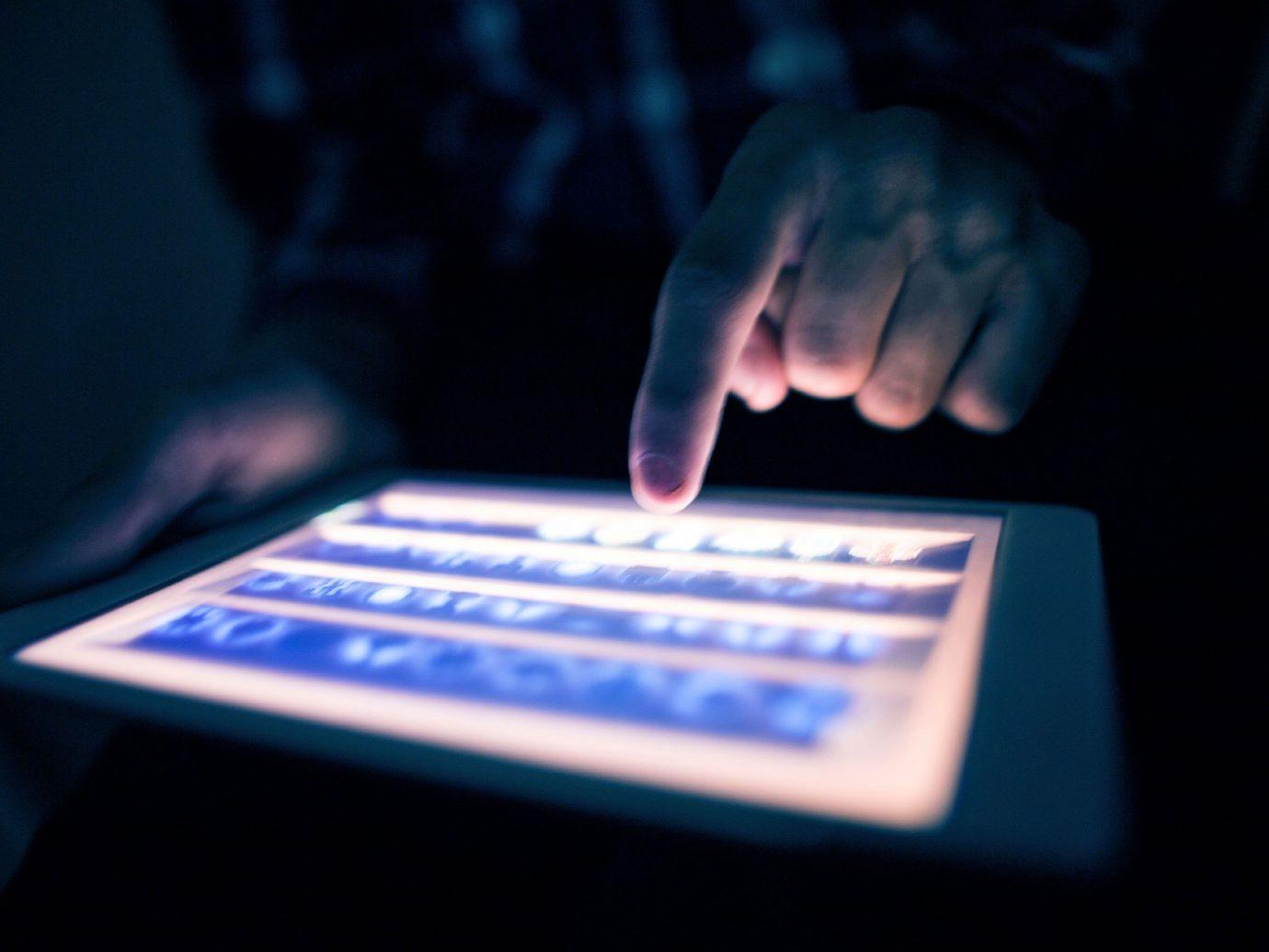 Trip Ideas person blue screen organ hand sense dark