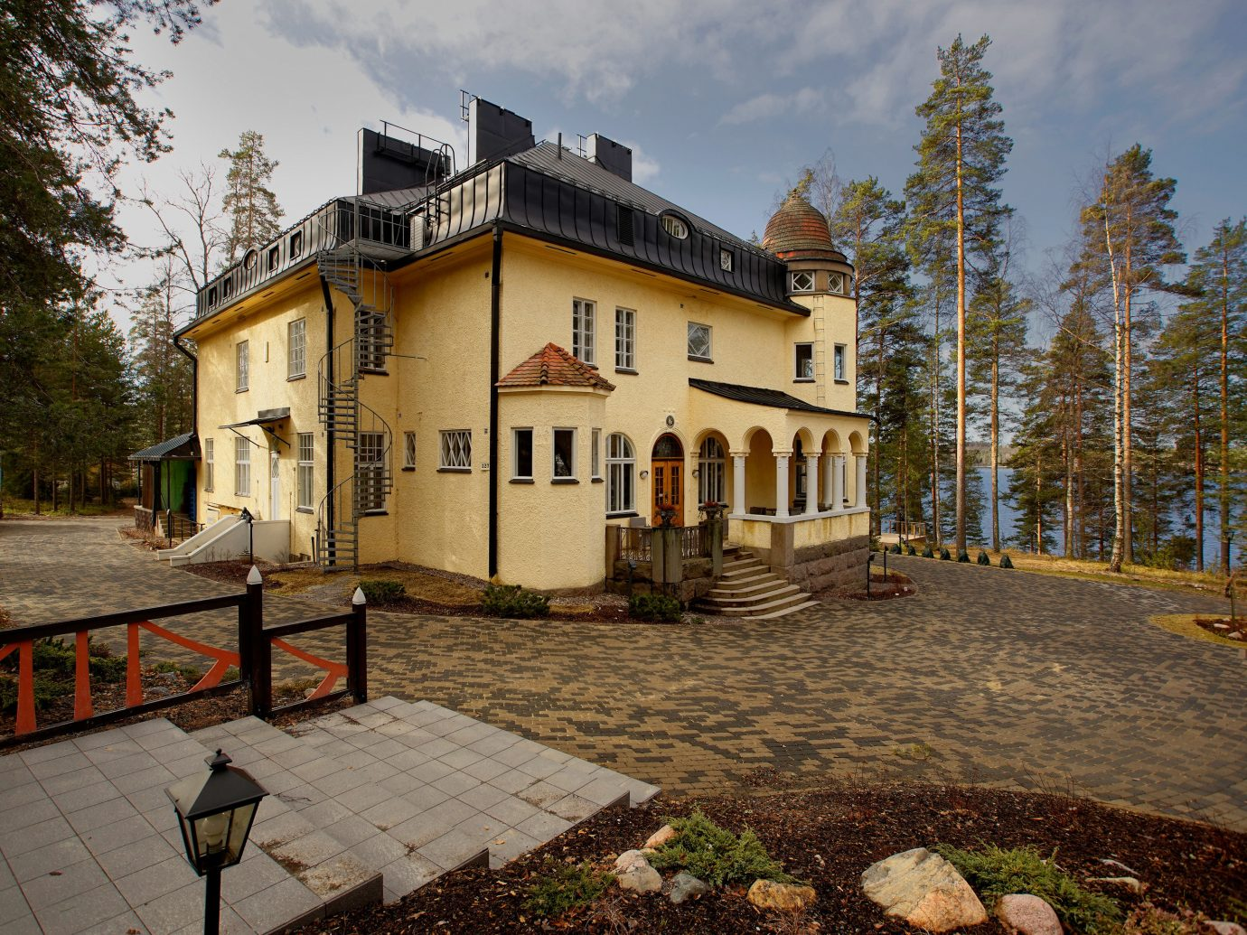 Denmark Finland Hotels Landmarks Luxury Travel Sweden outdoor tree ground property home estate house real estate cottage Villa building sky mansion facade window farmhouse stone walkway