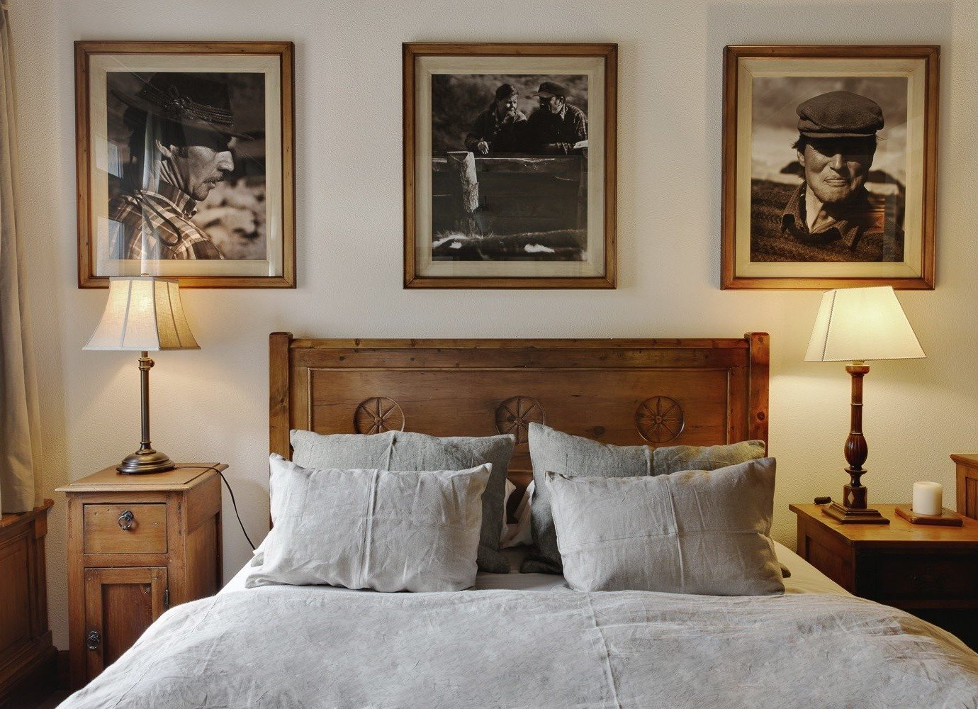 Hotels indoor bed wall room property Bedroom home estate living room furniture interior design wood cottage decorated painting