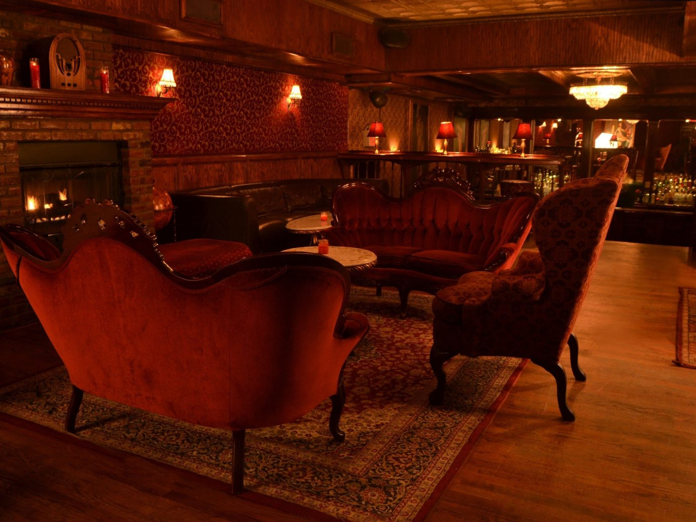 Food + Drink floor indoor room Living Lobby Bar interior design restaurant estate living room furniture