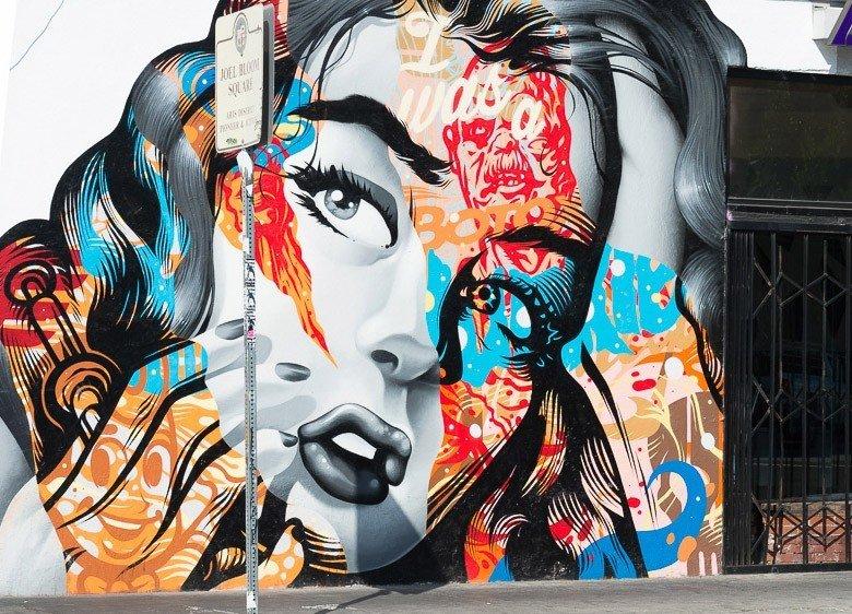 Budget street art graffiti art mural illustration modern art