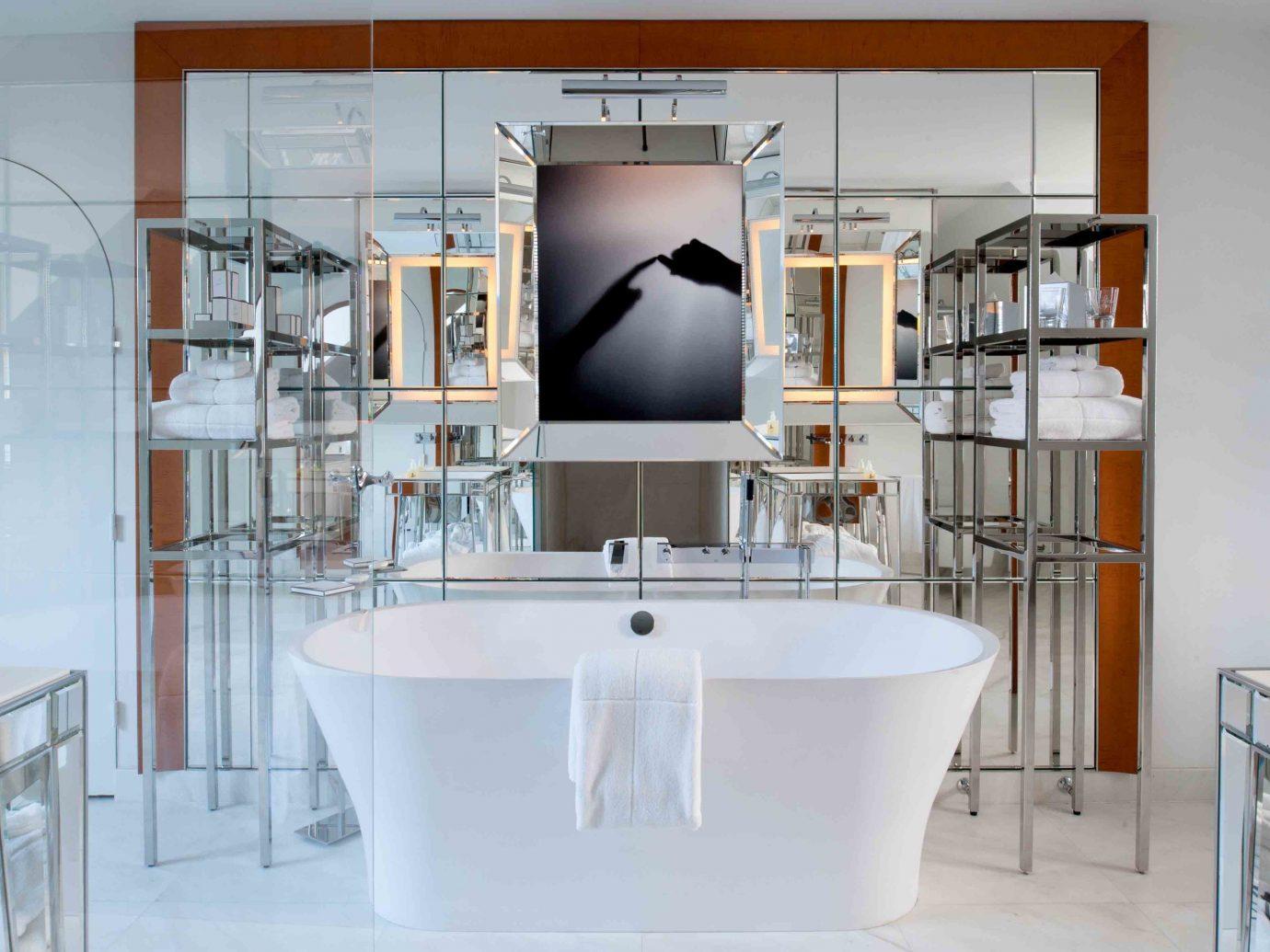 France Hotels Paris indoor wall room bathroom interior design furniture home plumbing fixture Design bathtub cabinetry bathroom cabinet kitchen appliance