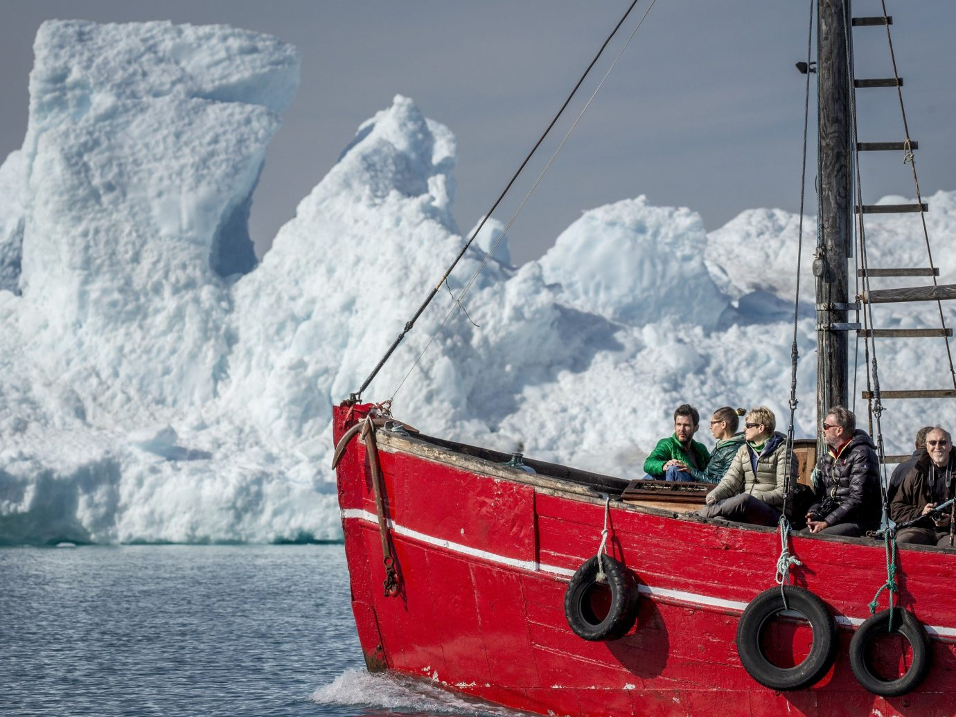 An iceboat near the Qooroq ice fjord in Narsarsuaq