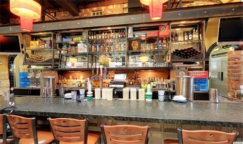Food + Drink table indoor Bar restaurant counter meal food cluttered Shop