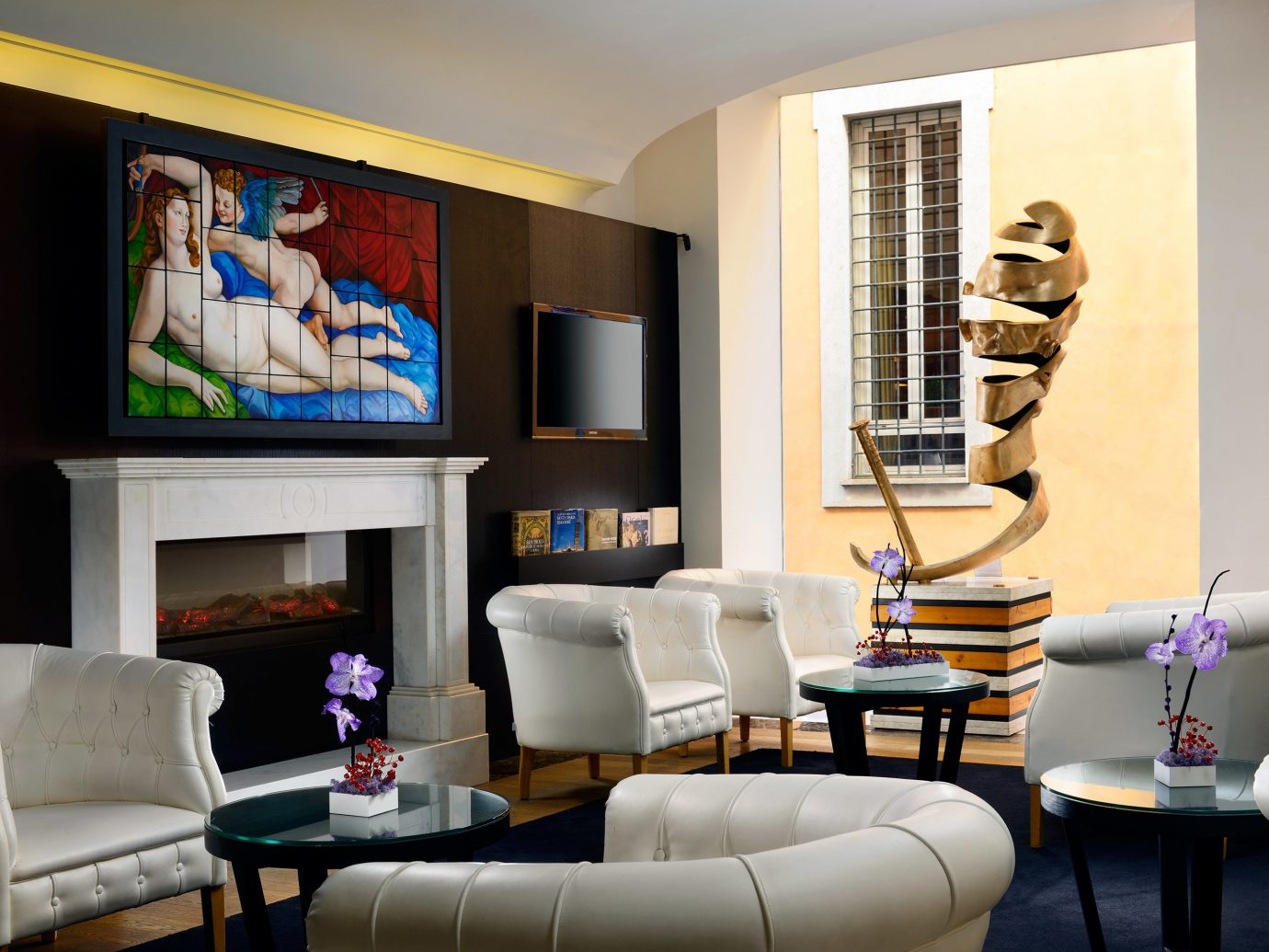 Boutique Boutique Hotels City Italy Lounge Luxury Travel Romantic Hotels Rome Living indoor wall sofa floor room living room property ceiling home interior design furniture real estate Design condominium window covering estate leather