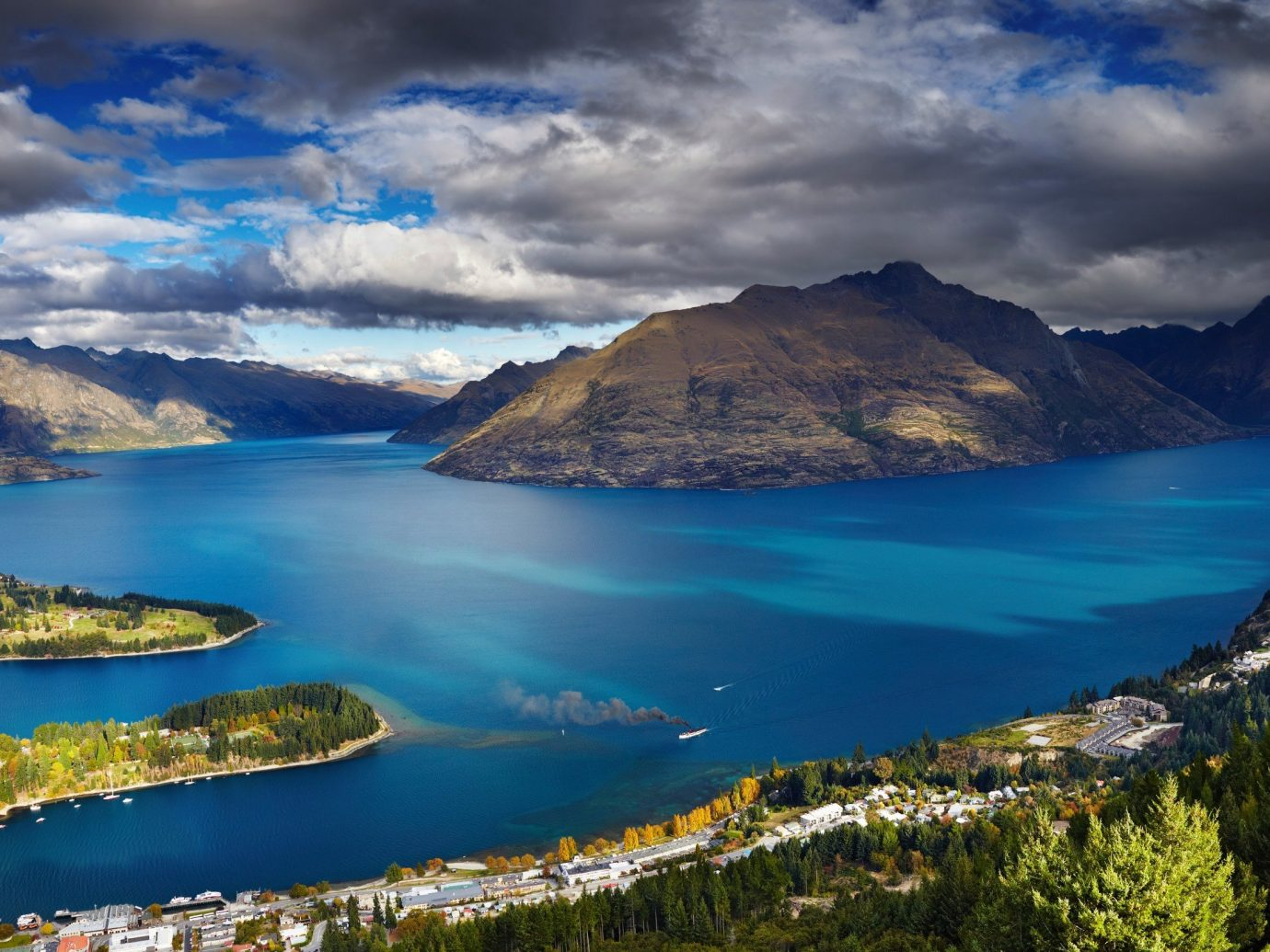 Trip Ideas sky water mountain outdoor Nature body of water Lake loch fjord Sea Coast mountain range bay crater lake reservoir reflection landscape glacial landform rock clouds cloudy