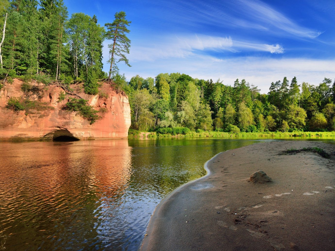 Trip Ideas tree outdoor sky water Nature River reflection wilderness body of water Lake loch reservoir landscape pond waterway stream surrounded