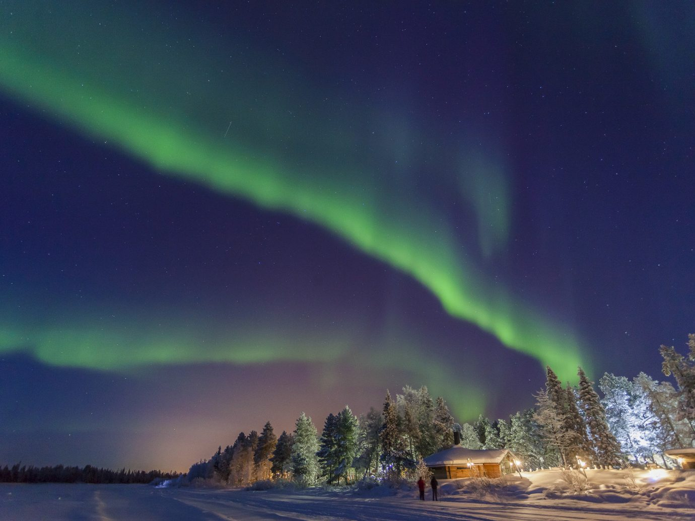 Adventure blue sky Boutique Hotels camping colorful Luxury Travel natural light Natural wonders Nature Night Sky northern lights Outdoor Activities Romance sky trees Trip Ideas view views Winter outdoor aurora phenomenon atmosphere