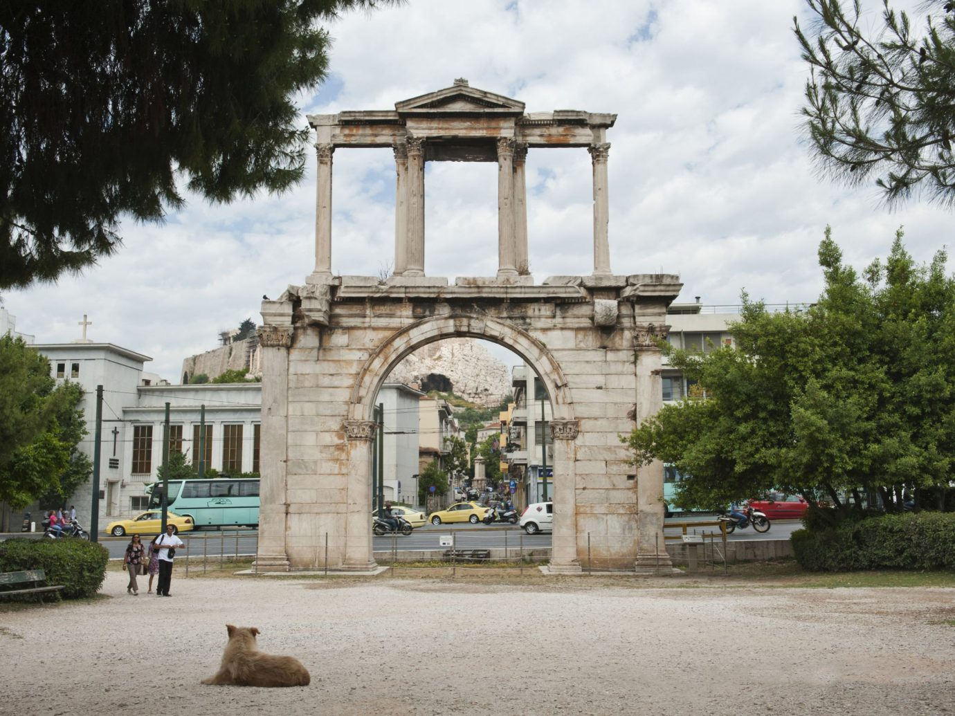 Trip Ideas tree outdoor building landmark Town arch Architecture stone estate monument ancient history shrine