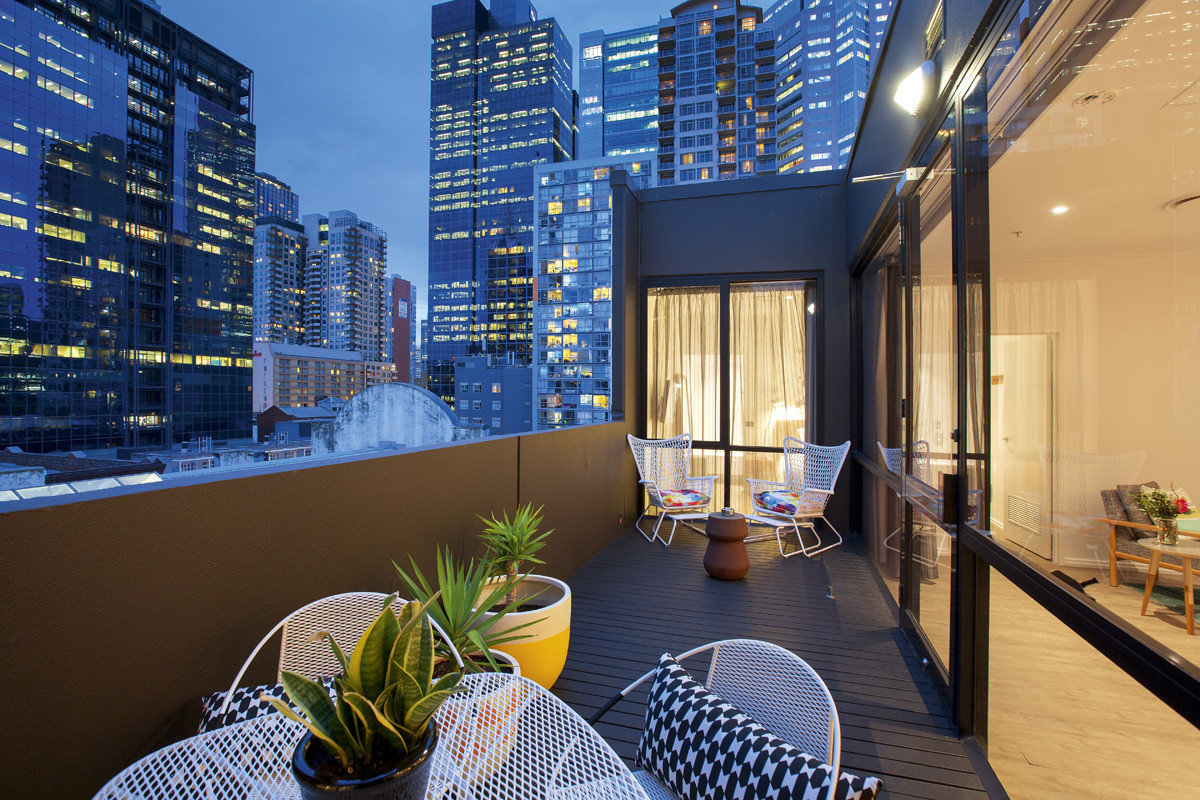 Australia Hotels Melbourne Architecture interior design apartment condominium real estate home window Balcony penthouse apartment building hotel mixed use