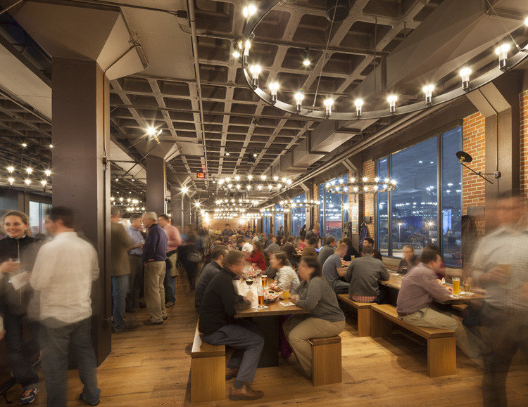 Interior of Harpoon Brewery & Beer Hall