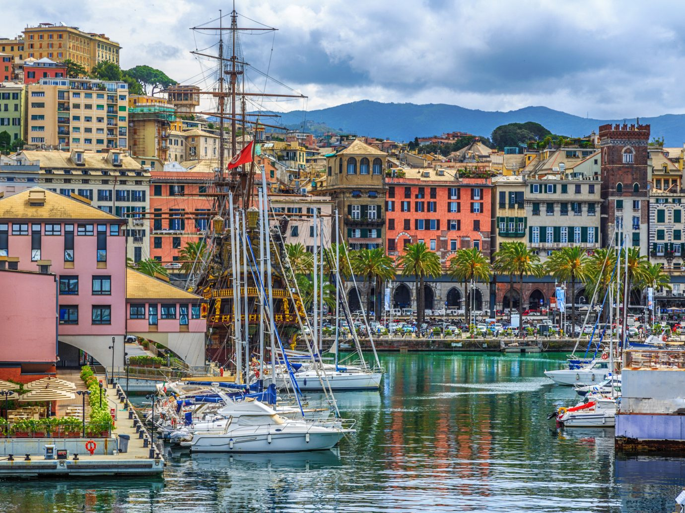 Italy Trip Ideas Harbor marina water waterway sky City reflection Town port Boat water transportation watercraft dock Sea cityscape channel mixed use tourism tree facade