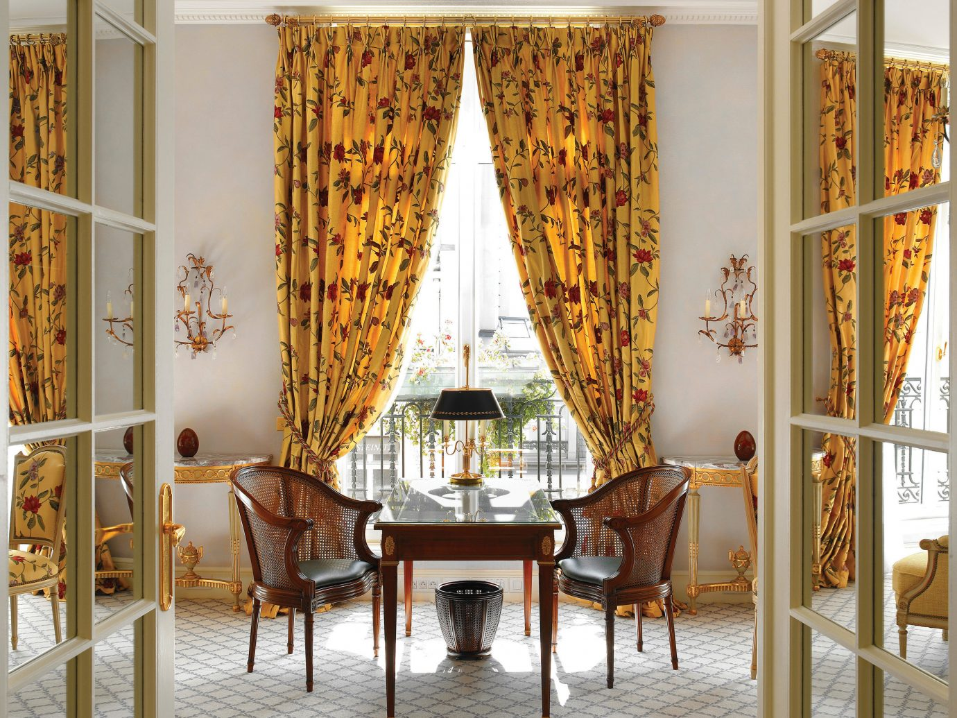 Hotels indoor room dining room curtain interior design window treatment home textile window covering living room Design window