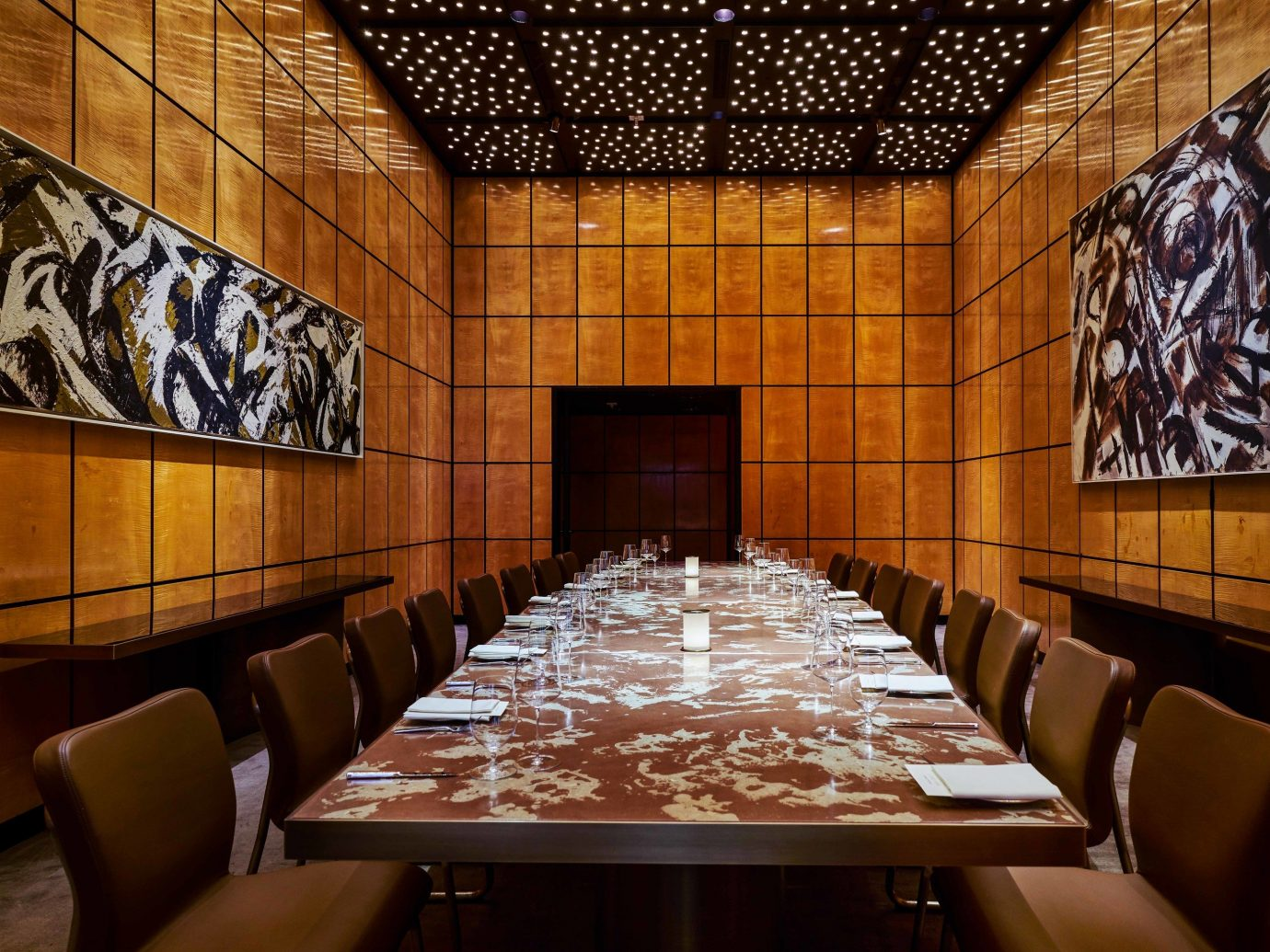 Food + Drink indoor table room interior design restaurant ceiling Lobby conference hall decorated dining room