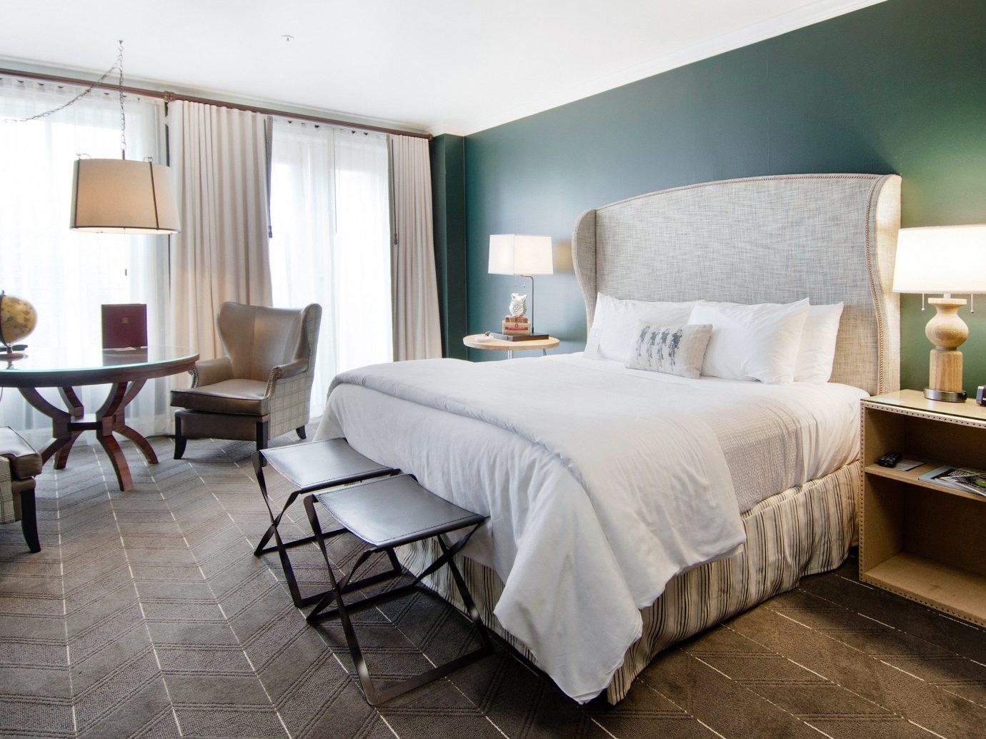 Boutique Hotels Hotels Luxury Travel floor indoor bed wall room Bedroom hotel Suite bed frame ceiling interior design green real estate furniture interior designer flooring
