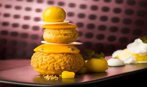 Food + Drink table indoor yellow food macaroon dessert produce meal ice cream sweetness
