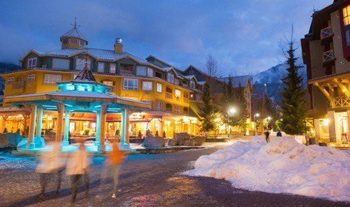 Mountains + Skiing Outdoors + Adventure Trip Ideas outdoor Town Resort resort town plaza Village estate sign Playground